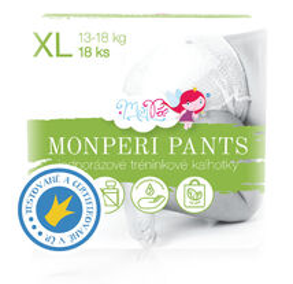 MONPERI - Jednorazové nohavičky 13-18 kg Pants XL (balenie 18 kusov)