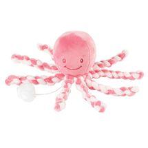 NATTOU - Prvá hračka bábätka hrajúca chobotnička PIU PIU Lapidou pink coral - light pink 0m+