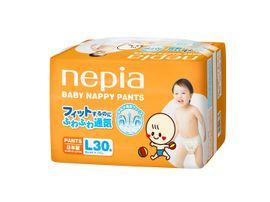"""NEPIA - Detské nohavičkové plienky """"L"""" (9-14kg) 30 ks"""