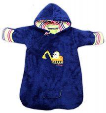 NICOL - Bavlnený spací vak s kapucňou BAGR - tm. modrý