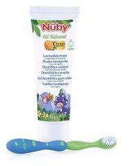 NUBY - Detská zubná pasta All Natural 45g + zubná kefka 24m+