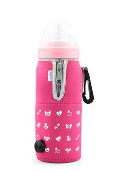 NUVITA - Cestovný ohrievač fľaše so zipsom, ružová