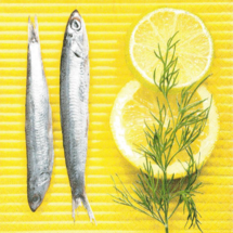 PAPER DESIGN - Papierové servítky Like fish