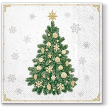 PAW - Papierové vianočné servítky Frosty Tree