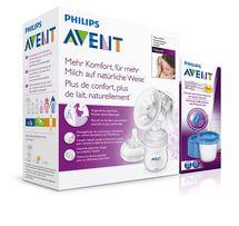 PHILIPS AVENT - Avent odsávačka mlieka Natural + 5ks VIA 180ml