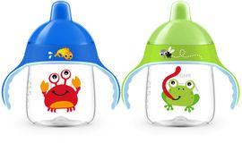 PHILIPS AVENT - hrnček pre prvé dúšky Premium 260ml žaba/krab