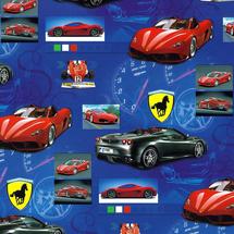 POL-MAK - Detský darčekový papier 5098 Ferrari - 100x70 cm