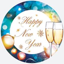 POL-MAK - Papierové taniere - Happy New Year GW 025373