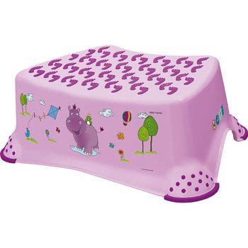 PRIMA BABY - Stupienok k umývadlu a WC Hippo - svetlo fialová