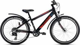 PUKY - detský bicykel CRUSADER 24-8 Alu Active light čierny
