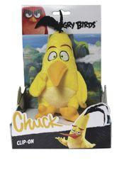 RAPPA - Angry Birds plyšová hračka Chuck s príveskom, 14 cm