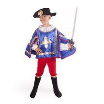 RAPPA - Karnevalový kostým Mušketier modrý s klobúkom S