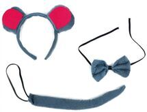 RAPPA - Súprava myš - chvost, čelenka a motýlik