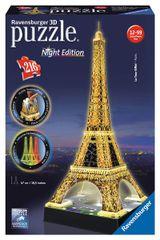 RAVENSBURGER - Puzzle 3D Ravensburger Eiffelova veža - nočná edícia 216