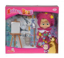 SIMBA - Máša a medveď Bábika Máša maliarka