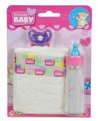 SIMBA - New Born Baby sada fľaštička, cumlík, plienka