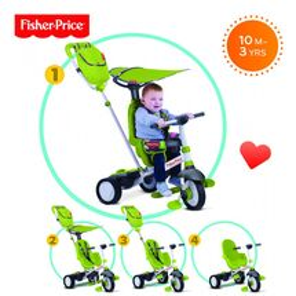 SMART-TRIKE - trojkolka Fisher Price 320 Charisma 4v1 Zelená