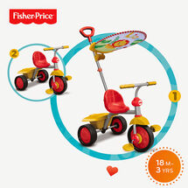 SMART-TRIKE - trojkolka Fisher Price 330 Glee Plus 2v1 Červeno-žltá