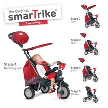 SMART TRIKE - Trojkolka Splash - Červená