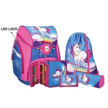 SPIRIT - Školská taška - 5-dielny set, PRO LIGHT Unicorn, LED