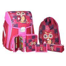 SPIRIT - Školská taška - 5-dielny set, START Owl Red