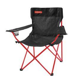 SPOKEY - ANGLER - cestovná stolička čierno - červená