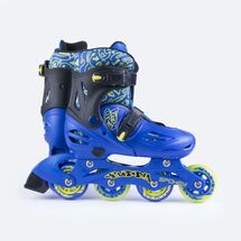 SPOKEY - BUDDY Kolieskové korčule modré ABEC1 Carbon veľkosť  34 - 37