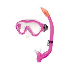 SPOKEY - CAYMAN JUNIOR - Sada okuliare + šnorchel ružový