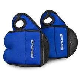 SPOKEY - COM FORM IV Závažie na zápästie 2 x 1,5kg modré