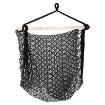 SPOKEY - ETNO Húpacia sieť - sedátko, do 120 kg - čierno-biele