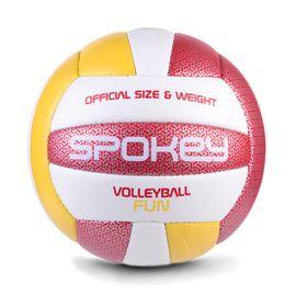 SPOKEY - FUN IV volejbalová lopta červeno-žlutý