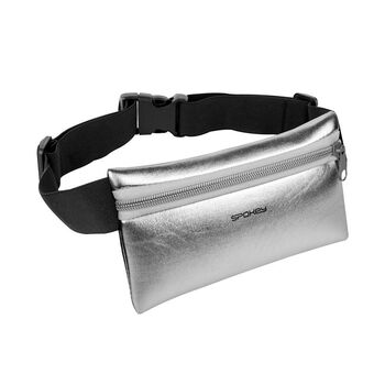 SPOKEY - HIPS BAG Športová ľadvinka strieborná