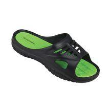 SPOKEY - MERLIN  Šľapky pánské čierno- zelená veľkosť  42