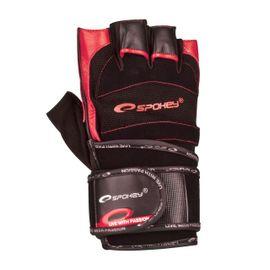 SPOKEY - MITON Fitness rukavice čierno - červené vel. M