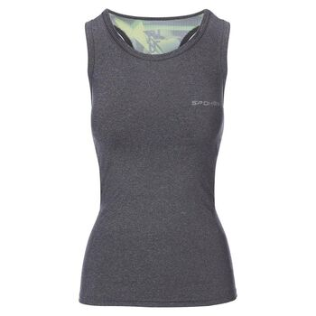 SPOKEY - MODO, fitness top, sivo-zelený, vel. L
