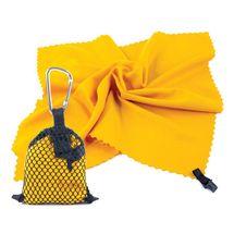 SPOKEY - NEMO rýchloschnúci uterák 40 x 40 cm, žltý s karabinou