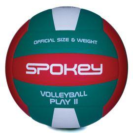 SPOKEY - PLAY II Volejbalová lopta červeno-zelená vel.5