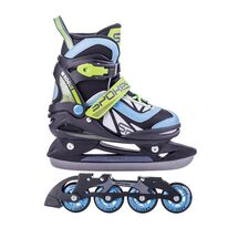 SPOKEY - ROGUE korčule zimné a letné regulovateľné vel. 33-36 čierno-modré