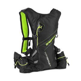 SPOKEY - SPRINTER - Cyklistický a bežecký batoh 5l zeleno- čierny, vodotesný