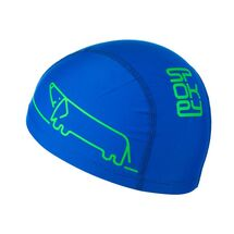 SPOKEY - TRACE JUNIOR Plavecká čiapka nylon, logo psík modrá