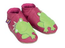 STARCHILD - Kožené topánočky - Frog Fuchsia Kids - veľkosť XS - 24-25 (2-3 roky)