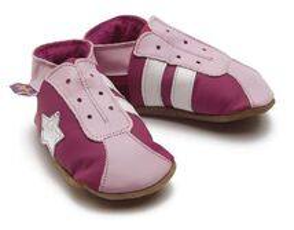 STARCHILD - Kožené topánočky - Retro Fuchsia - veľkosť S (0-6 mesiacov)