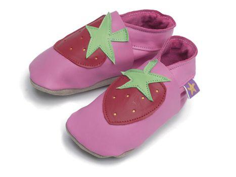 STARCHILD - Kožené topánočky - Strawberry Pink - veľkosť XL (18-24 mesiacov)