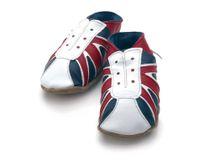 STARCHILD - Kožené topánočky - UK Trainer Navy/red - veľkosť M (6-12 mesiacov)