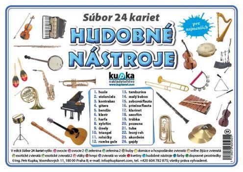 Súbor 24 kariet - hudobné nástroje -  Petr Kupka