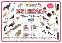 Súbor 24 kariet - zvieratá (vtáky) -  Petr Kupka