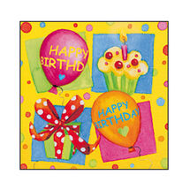 SUSY CARD - Servítky 33x33 cm - Happy Birthday