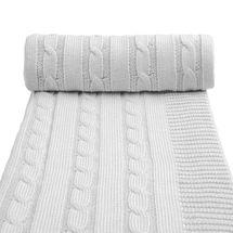 T-TOMI - Pletená detská deka spring, grey