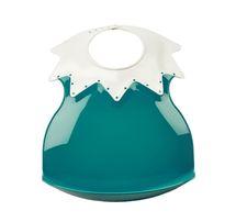 THERMOBABY - Plastový podbradník s límcom, Deep Peacock
