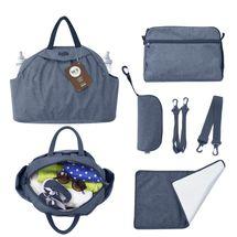 TOTS - Prebaľovacia taška Chic, blue melange